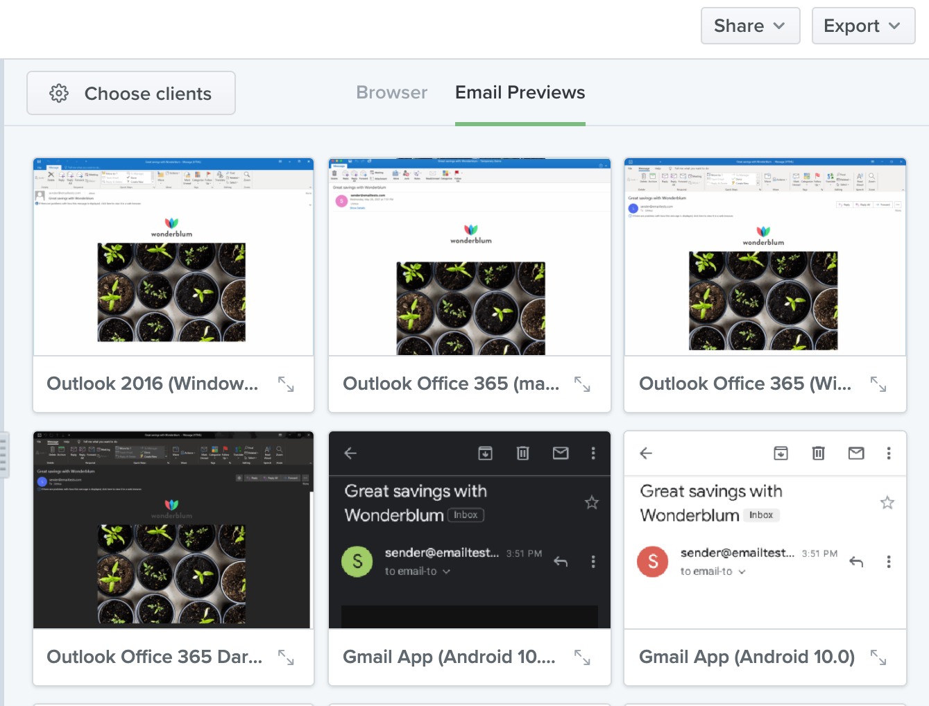 Email Previews in Litmus Builder