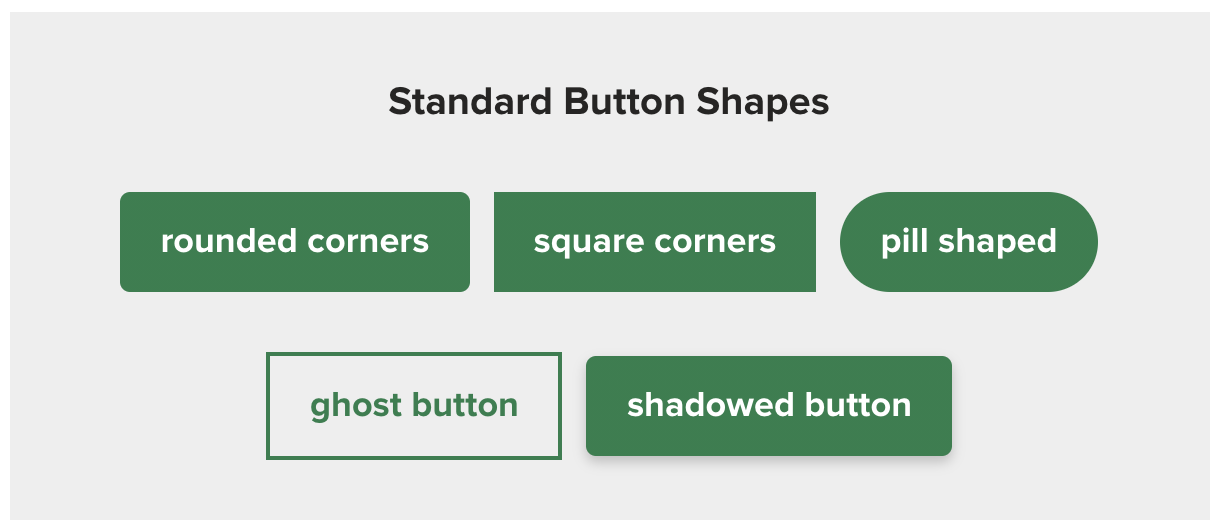 examples of standard button shapes