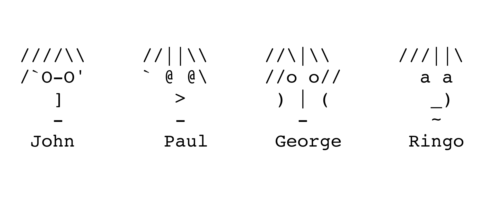 ASCII art of The Beatles
