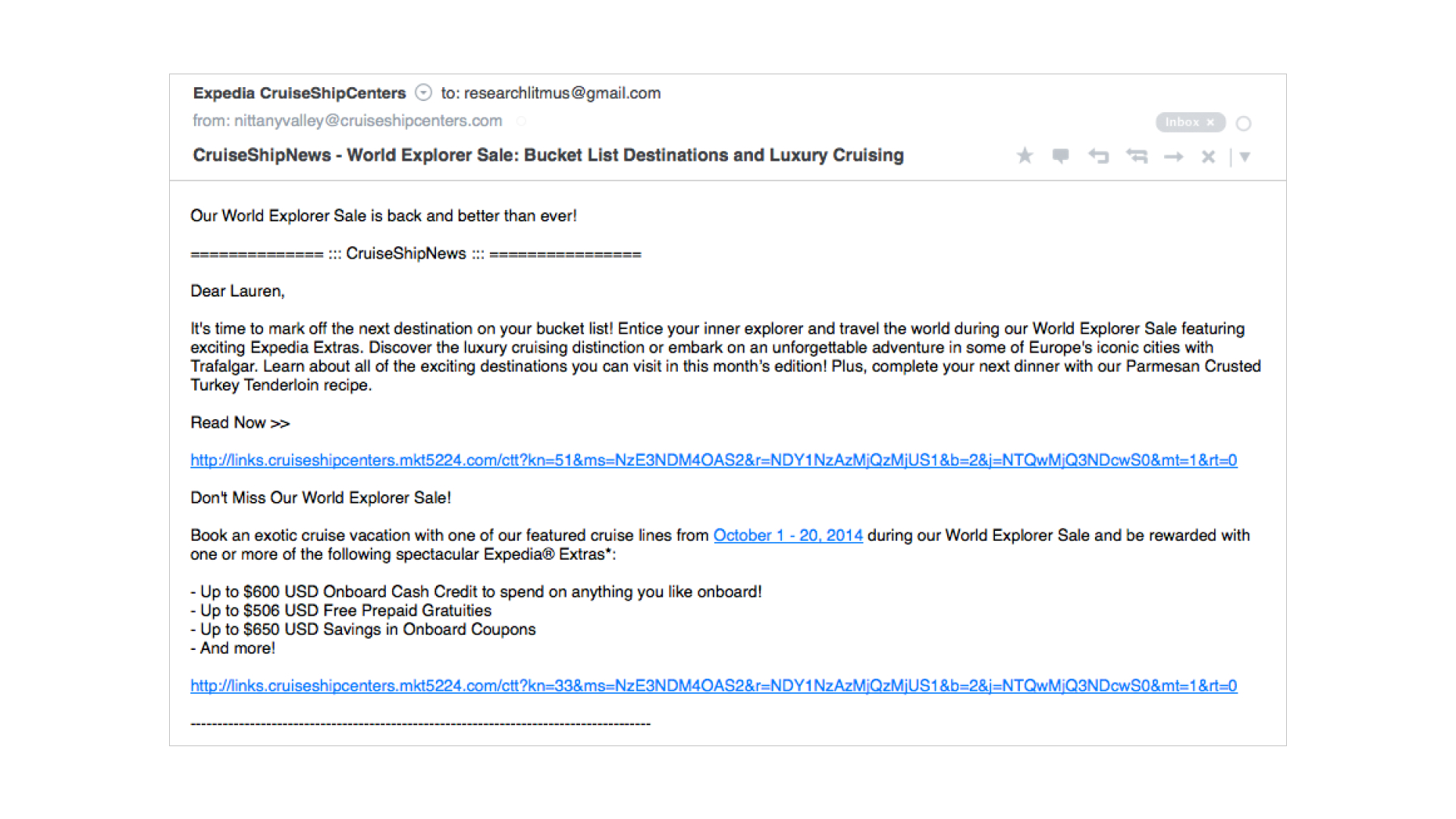 plain text email example of bulleted lists