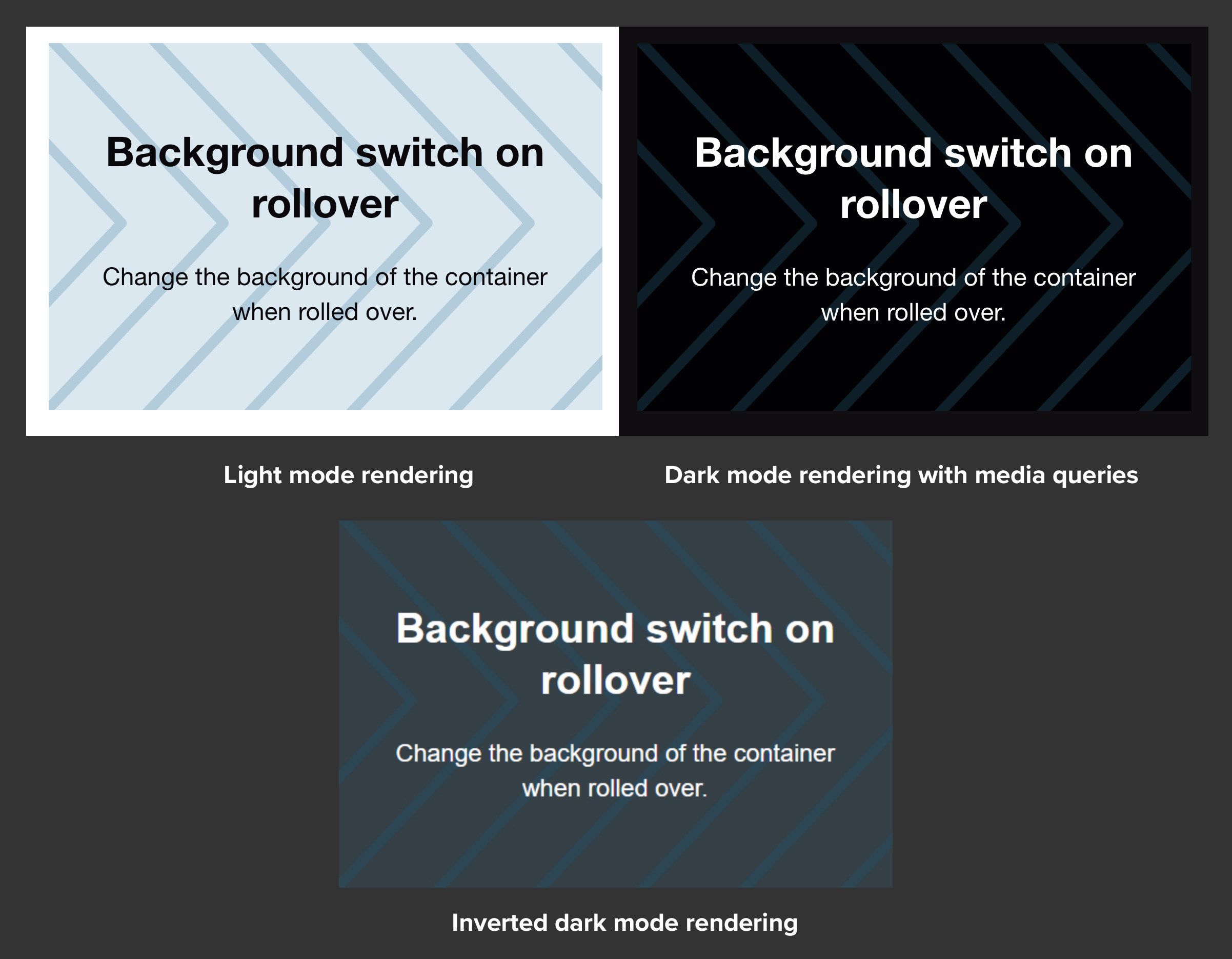 email background image in different Dark Mode scenarios