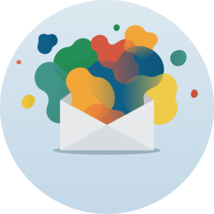 organic shapes email design