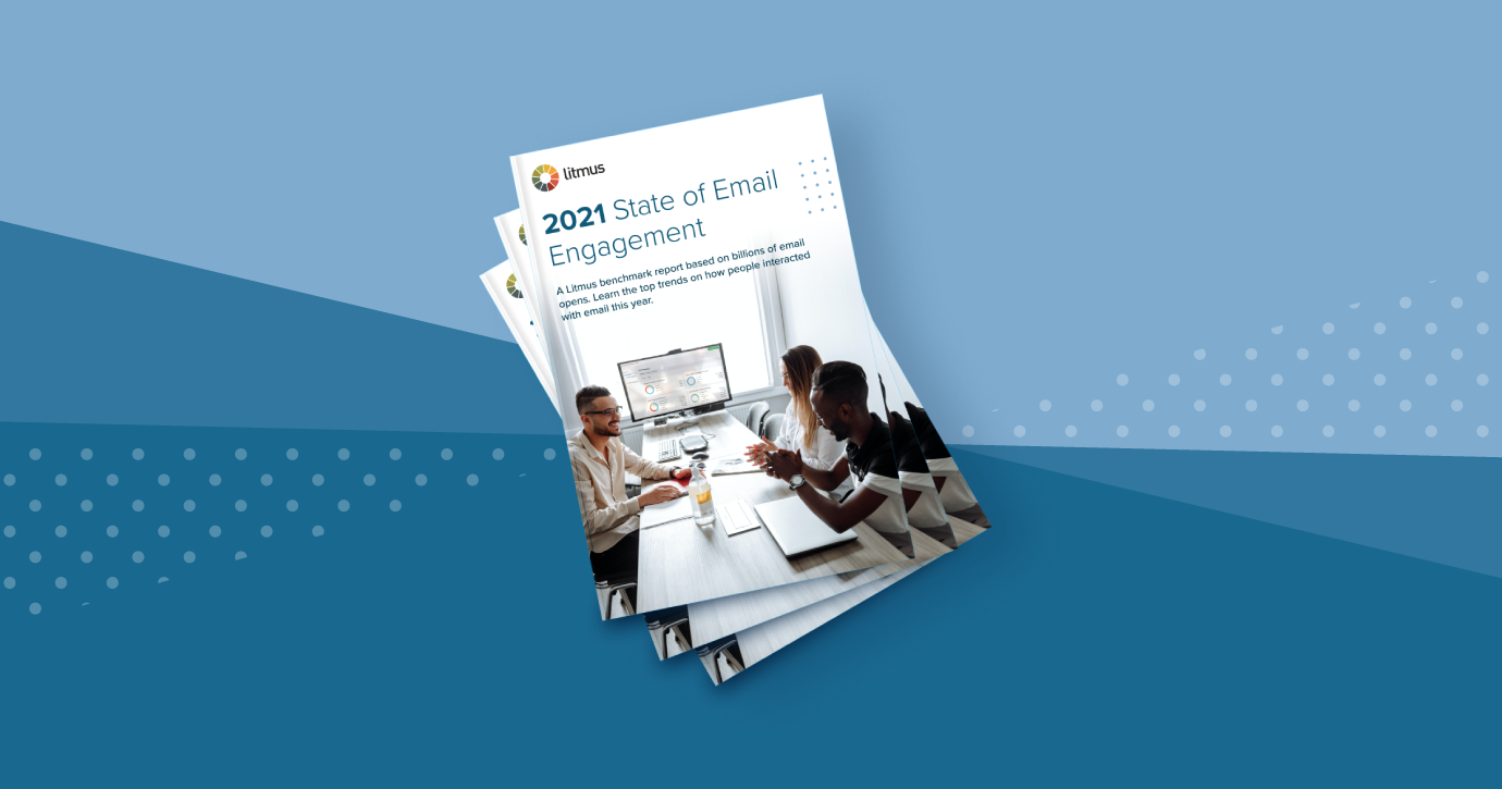 stacked copies of 2021 State of Email Engagement