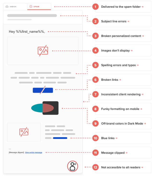 most common email mistakes