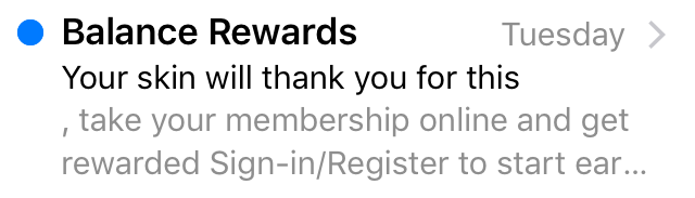 Balance Rewards preview text