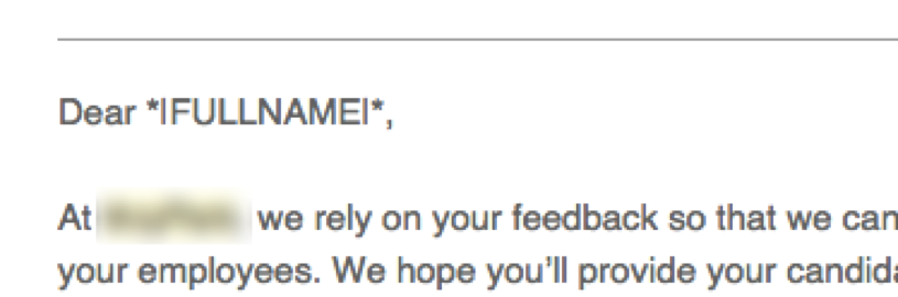 Great example from our friends at Zapier of email mistakes.