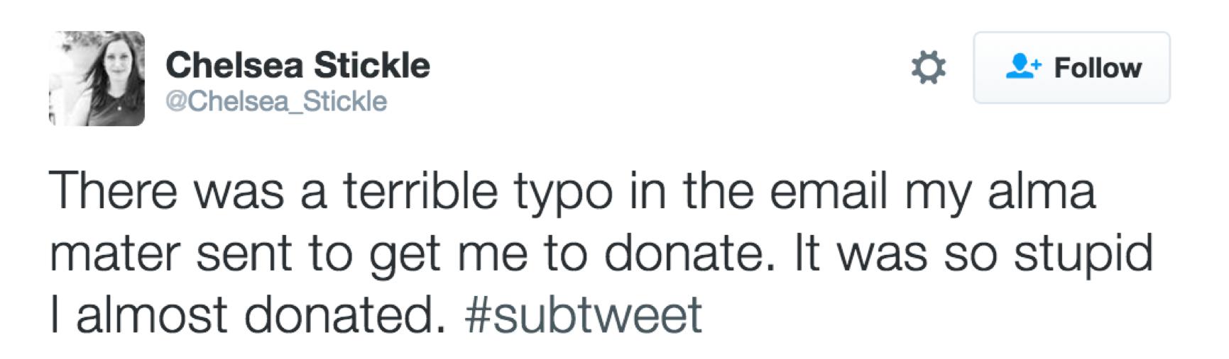 embarrassing tweet