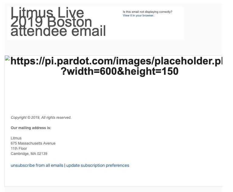 Litmus Live Oopsie Email