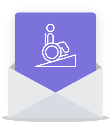 email accessibility icon