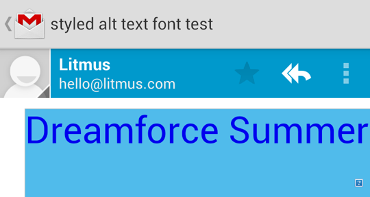 Styled ALT text in Android