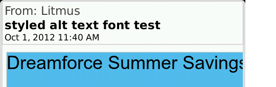 Styled ALT text in BlackBerry