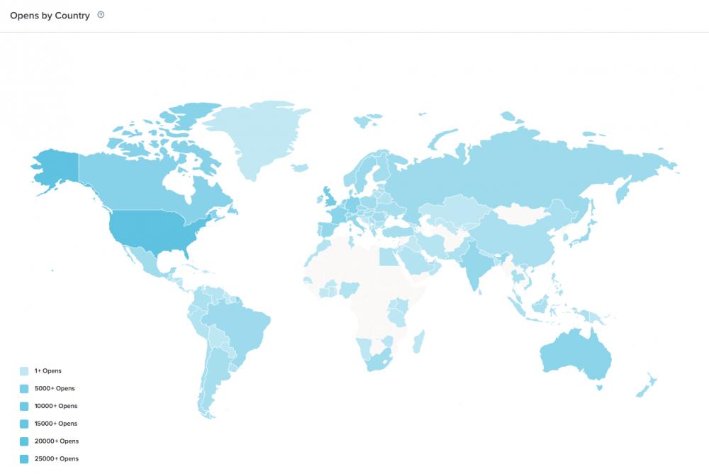 Geolocation data in Litmus Email Analytics