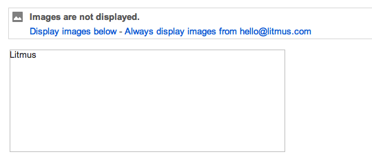 Disabled image with alt text in Gmail