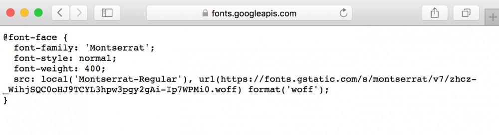 Web font CSS