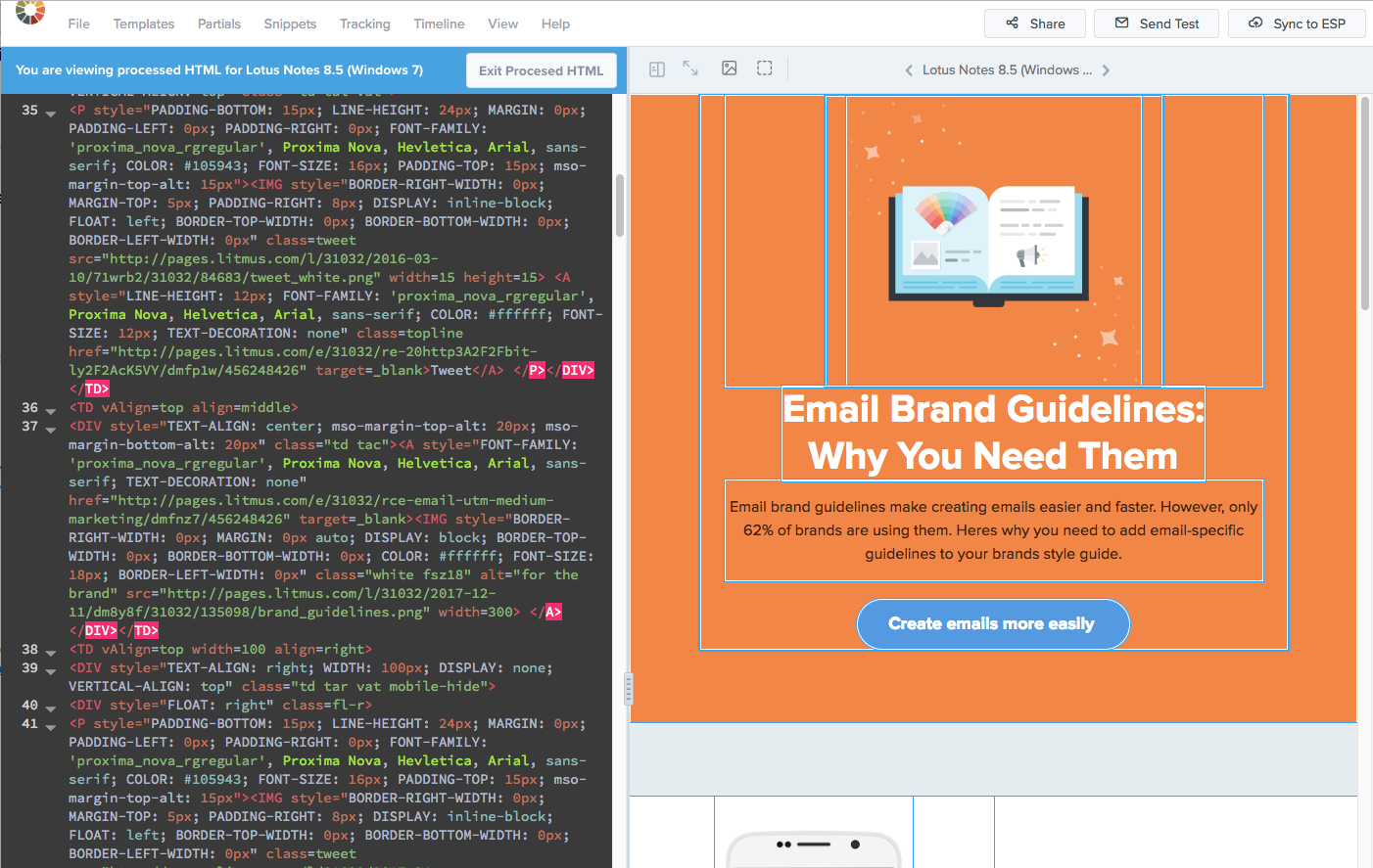 New In Litmus Understand How Email Clients Alter Your Email Code With Processed Html Support Litmus