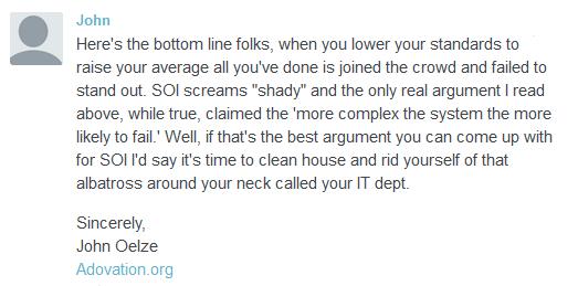 John Oelze's comment