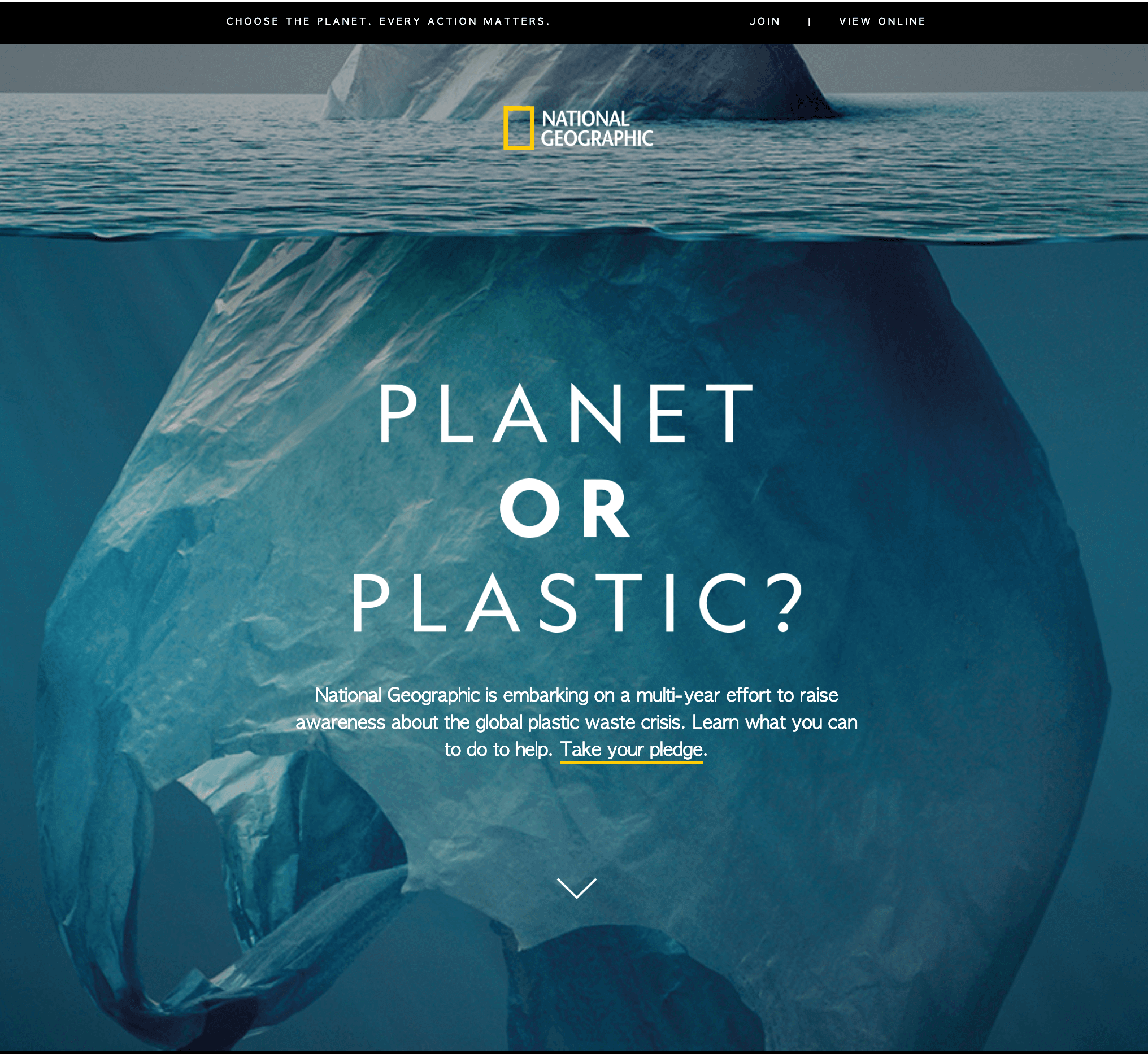 National Geographic Planet or Plastic Email