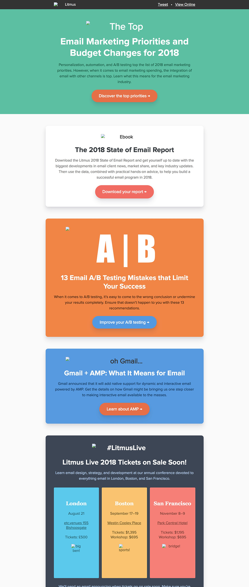 Background Colors - email newsletter