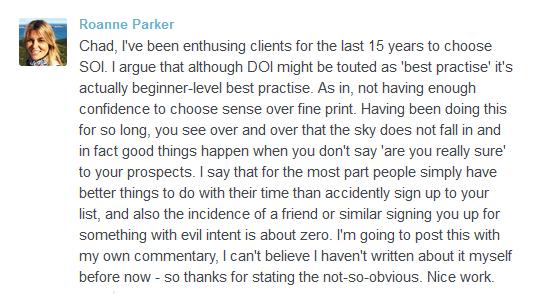 Roanne Parker's comment