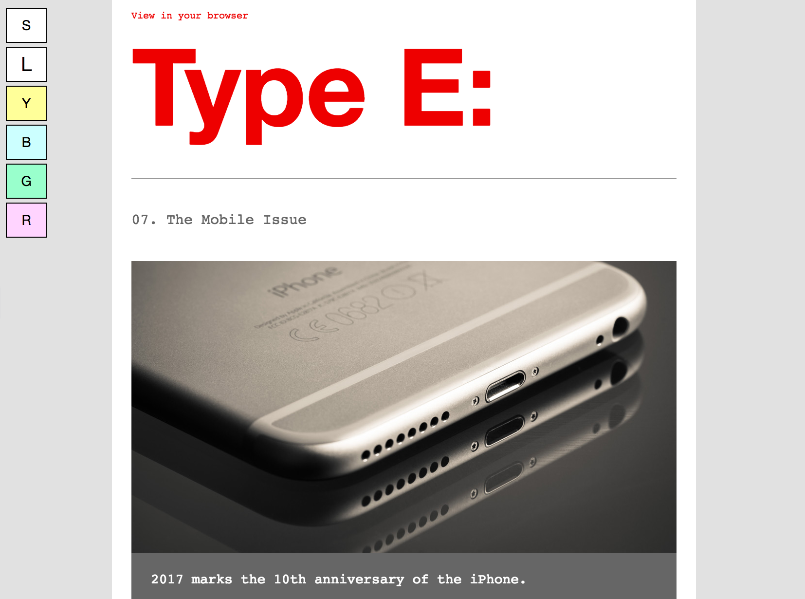 Accessible Email Type E