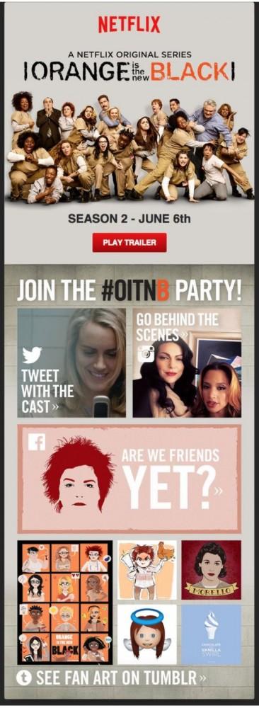 Social media integration - Netflix