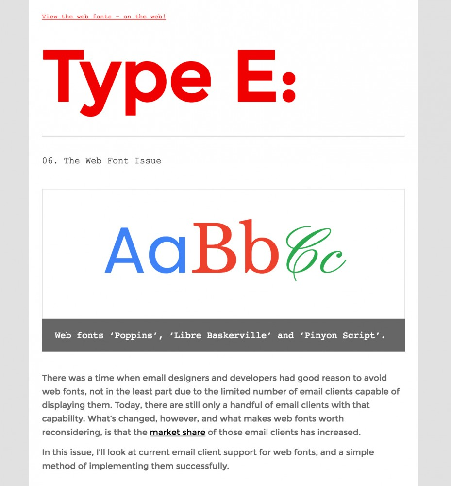 Web fonts - Type E