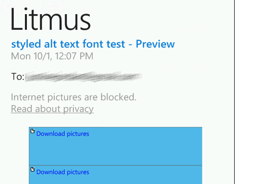 Styled ALT text in Windows Phone