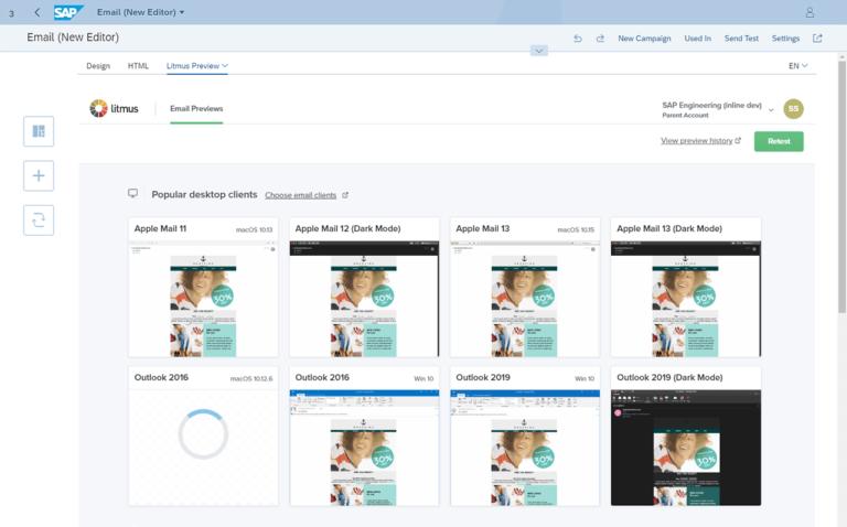 Litmus SAP Marketing Cloud integration