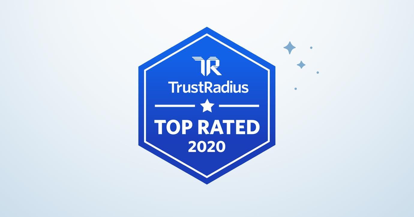 TrustRadius 2020 Top Rated Award