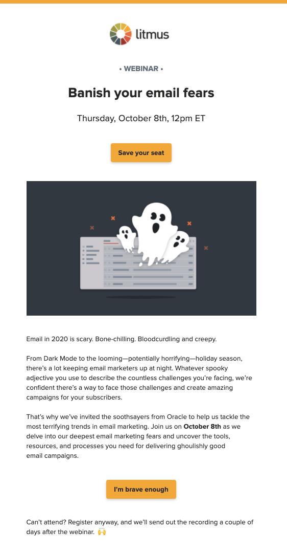 Non-customer webiinar HTML email