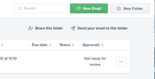 Screenshot of Litmus' folder sharing feature