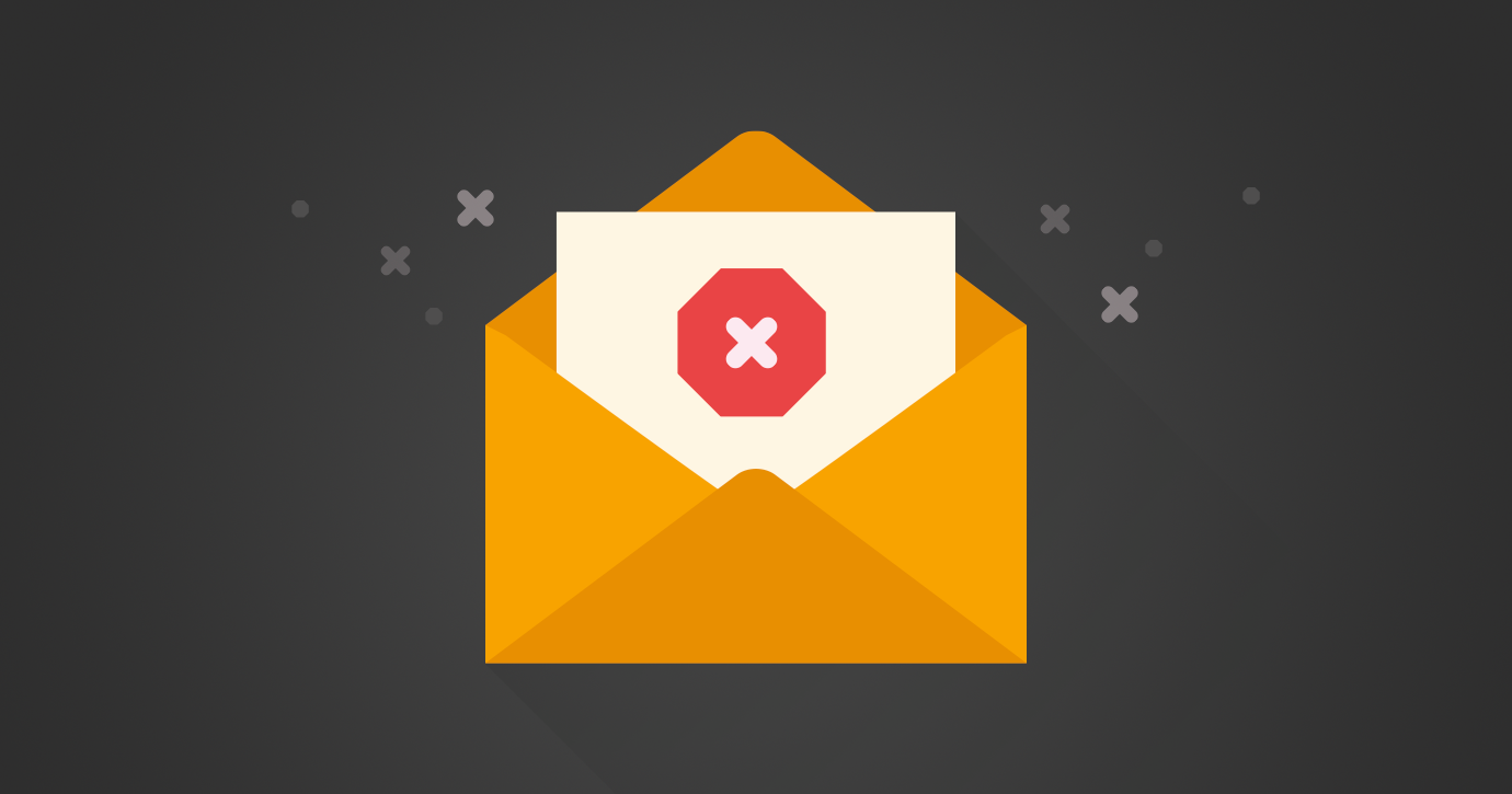 animated email envelope with stop sign
