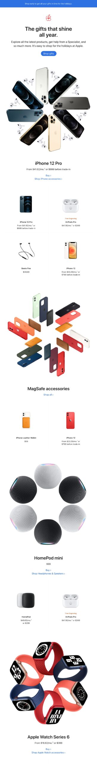 Apple email with 3D imagery