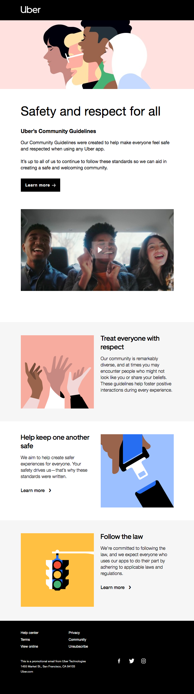 Uber email on diversity and inclusion