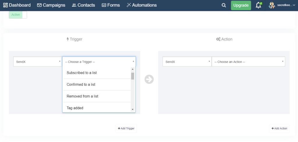 SendX email marketing automation