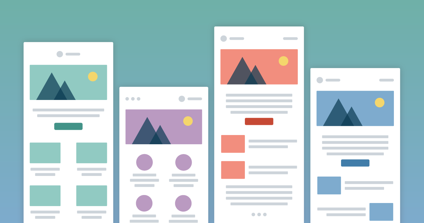 Illustration of email templates