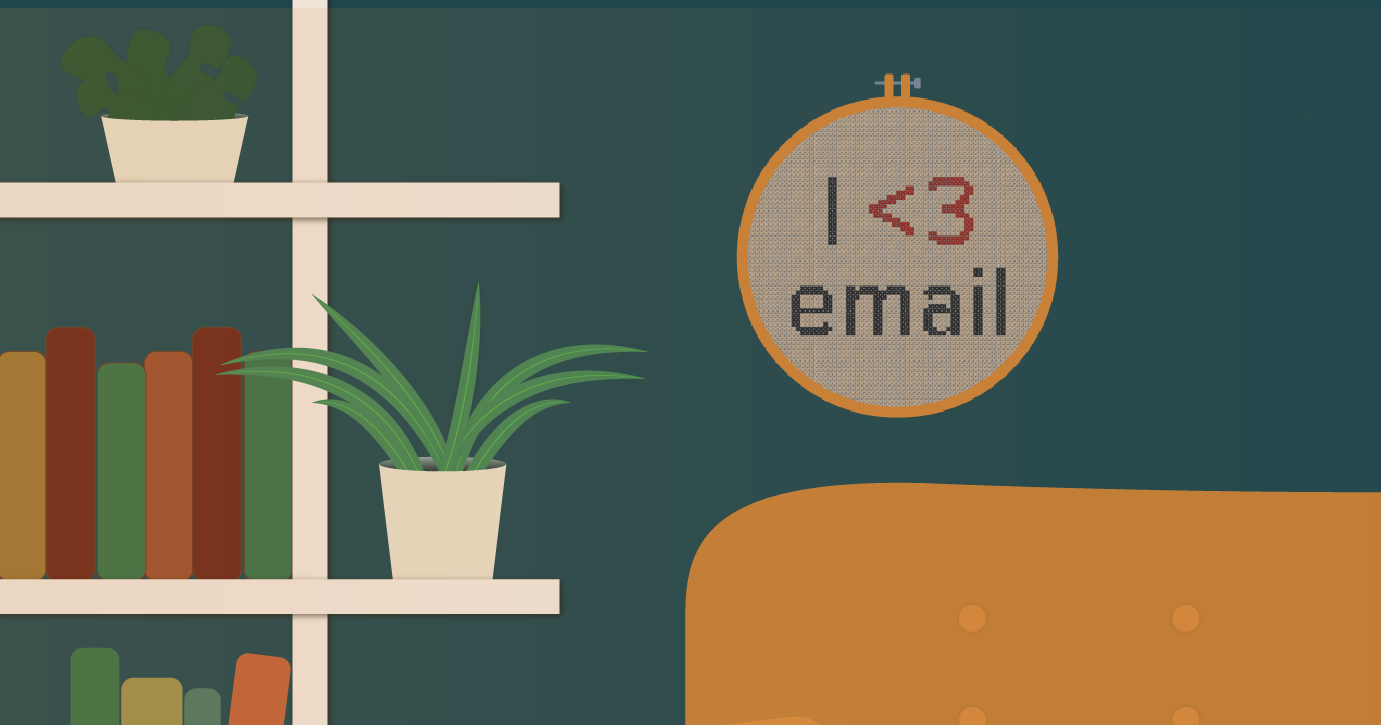 Virtual backgrounds for Email Geeks