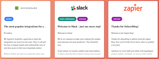 email copy inspiration from Just Good Copy