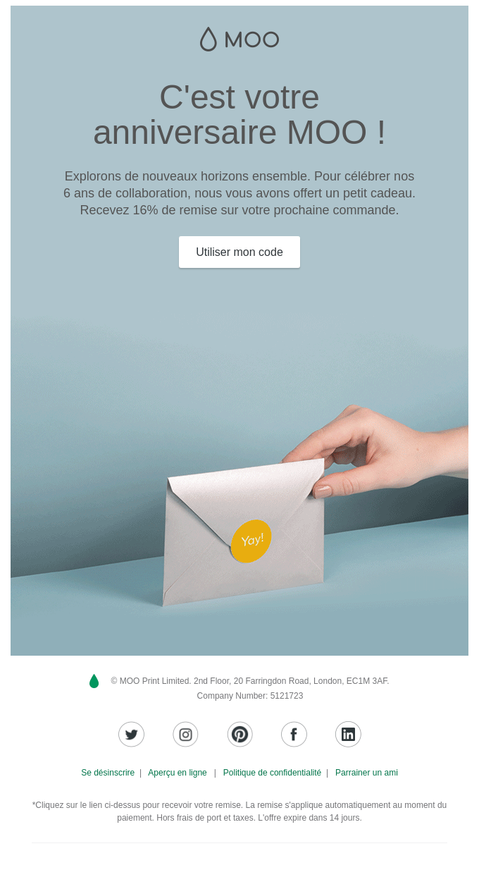 Moo Email Example