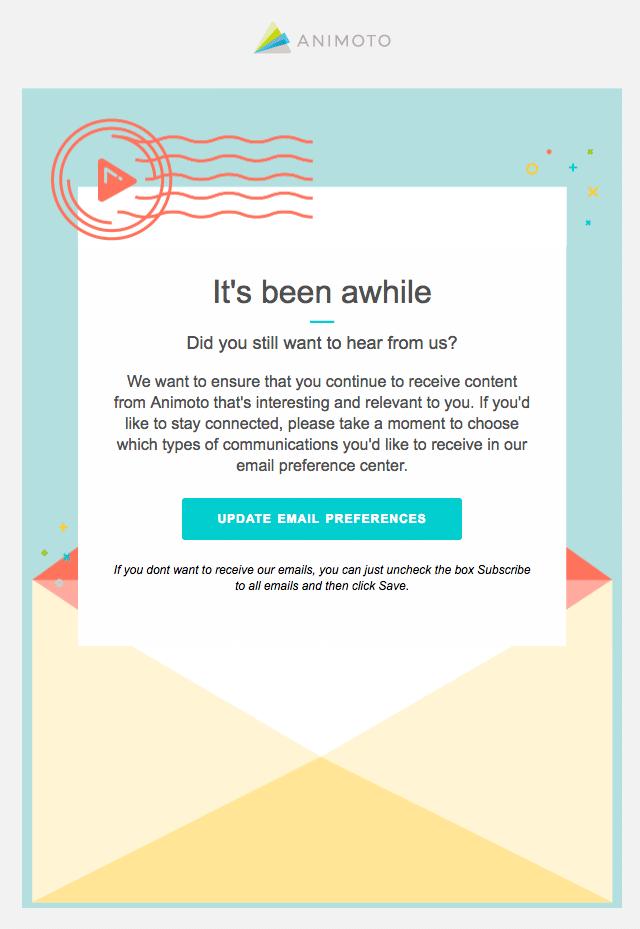 Animoto Rengagement Email
