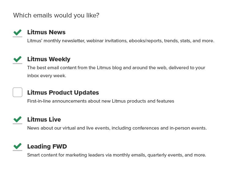 Litmus Email Preferences