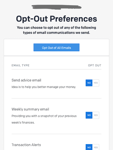 Opt-out preferences