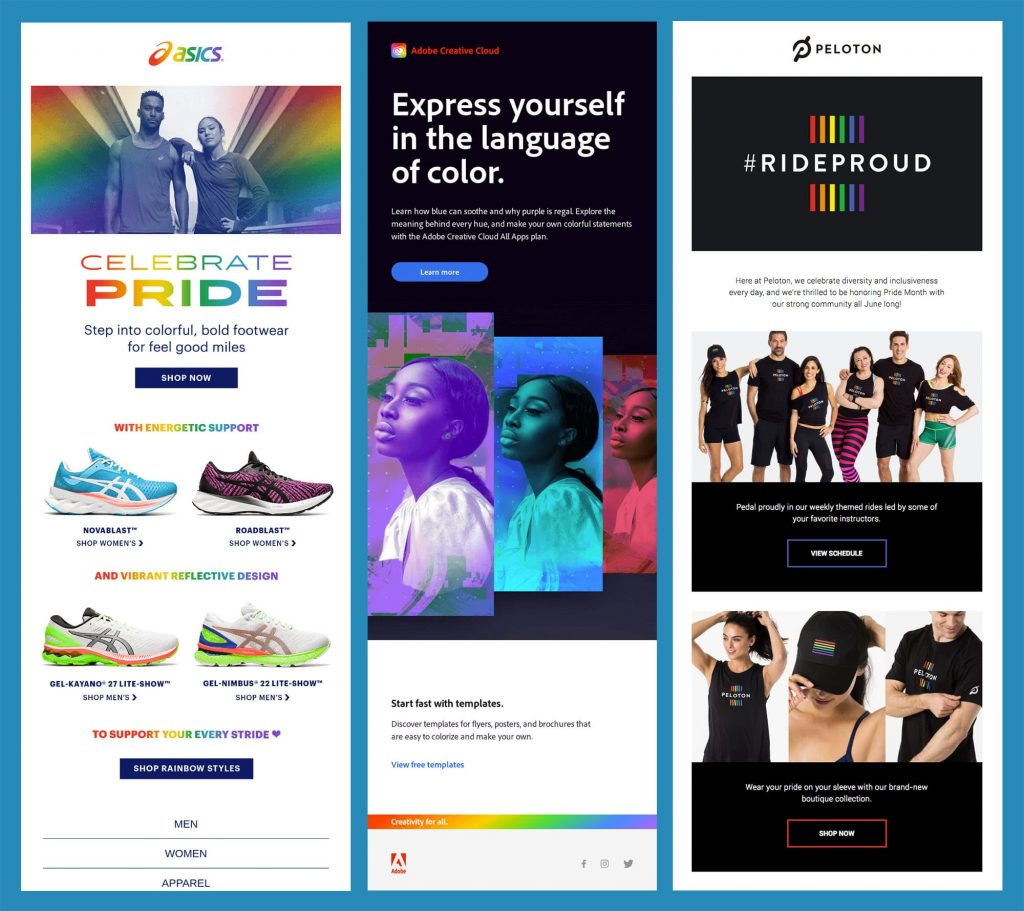 email examples celebrating pride and supporting the lgbtqia+ community