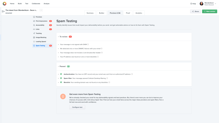 QA + Checklist