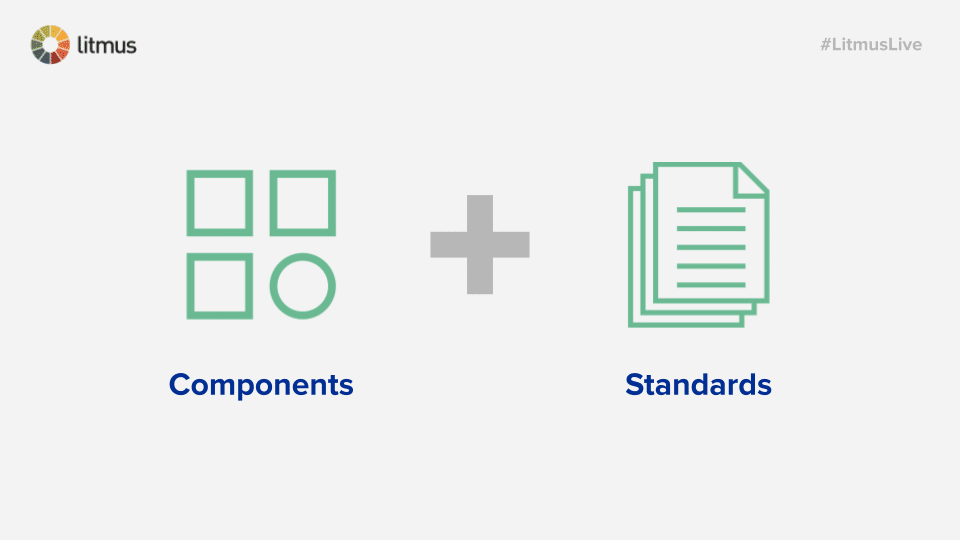 components + standards = design system