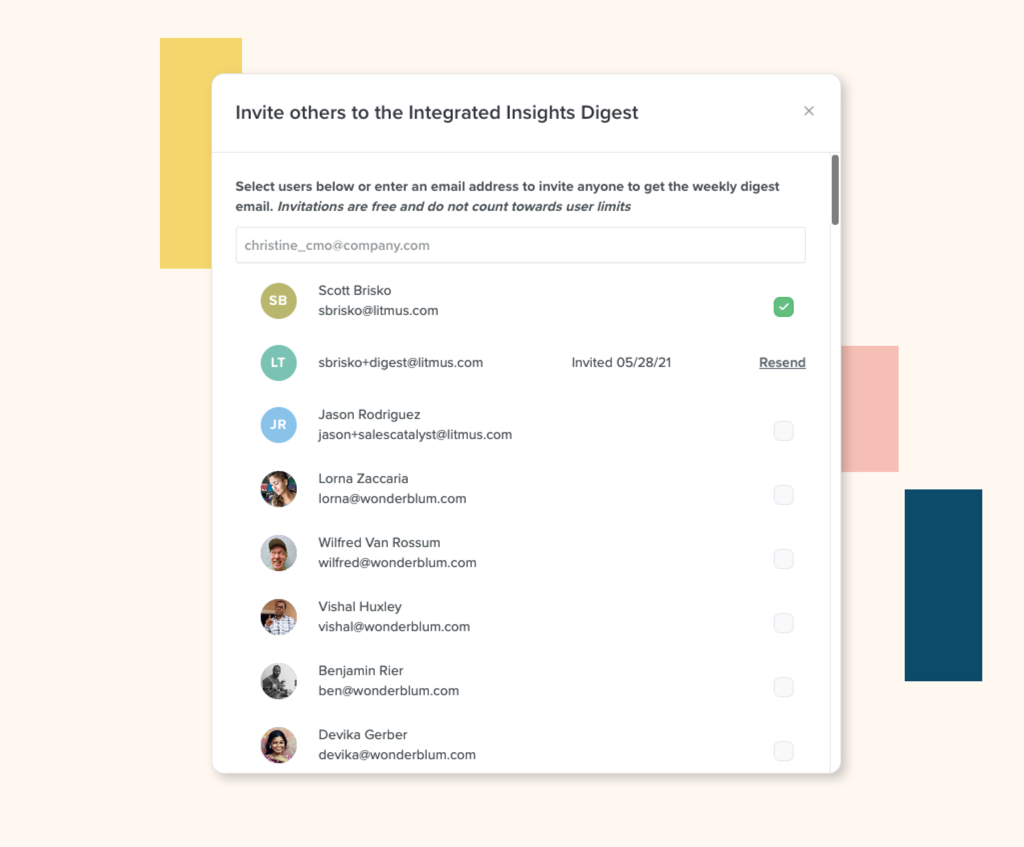 Share insights across your team