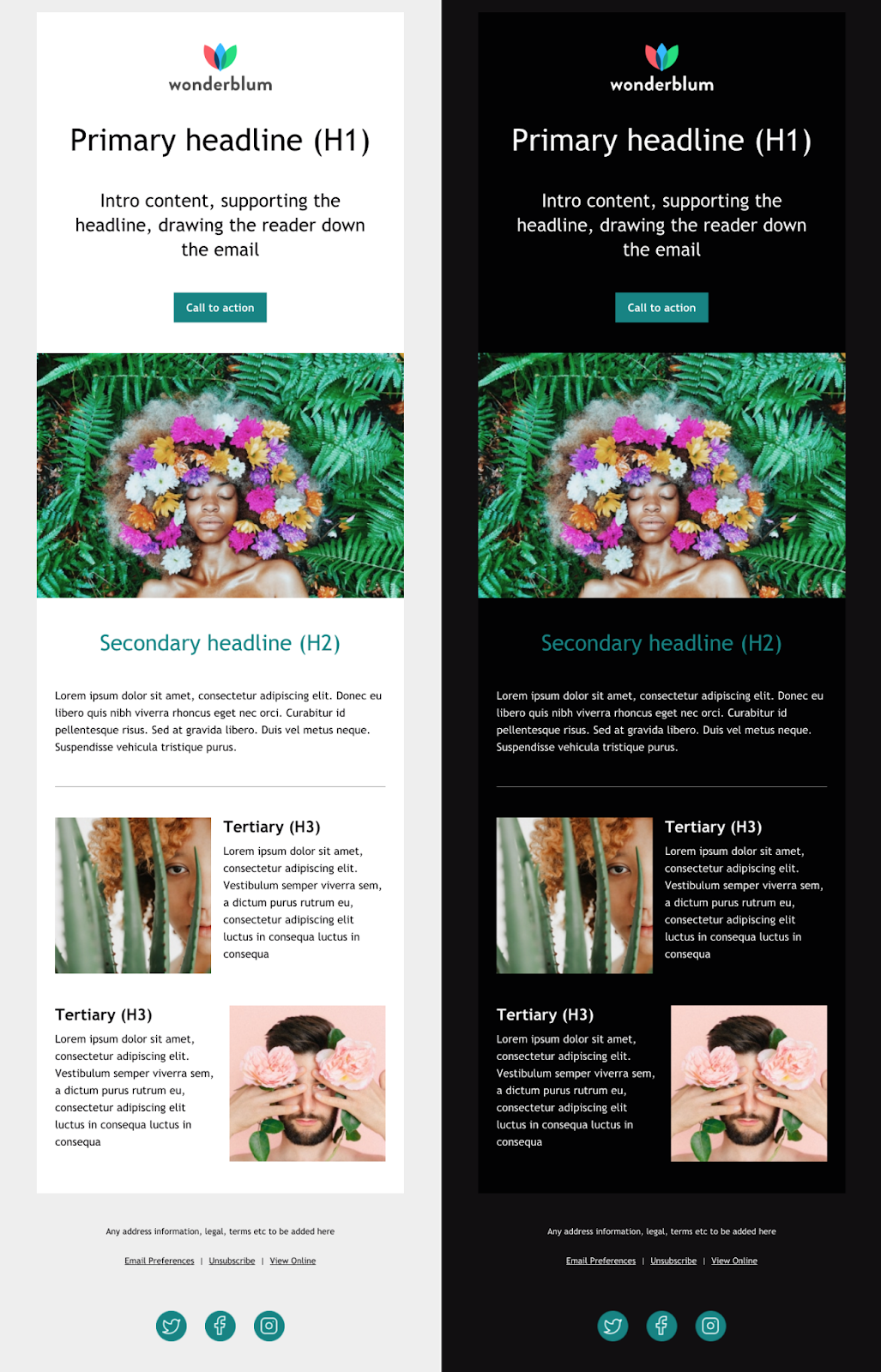 free Mailchimp email template by Litmus