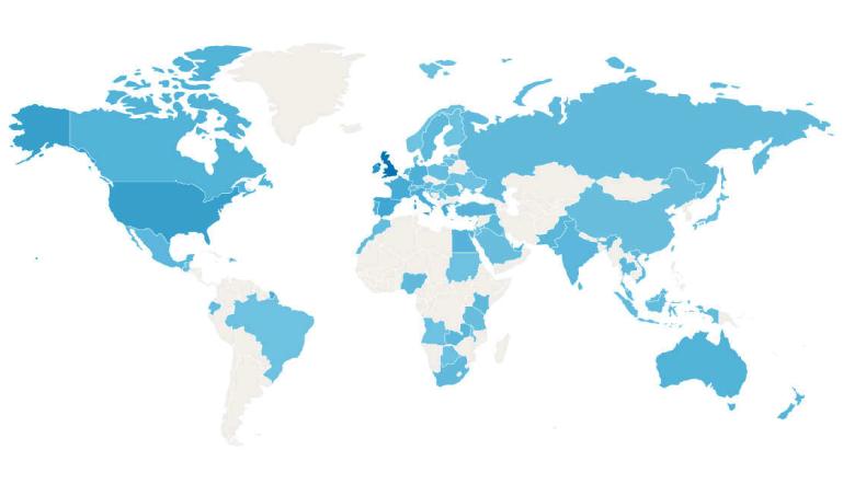 Image of worldwide map