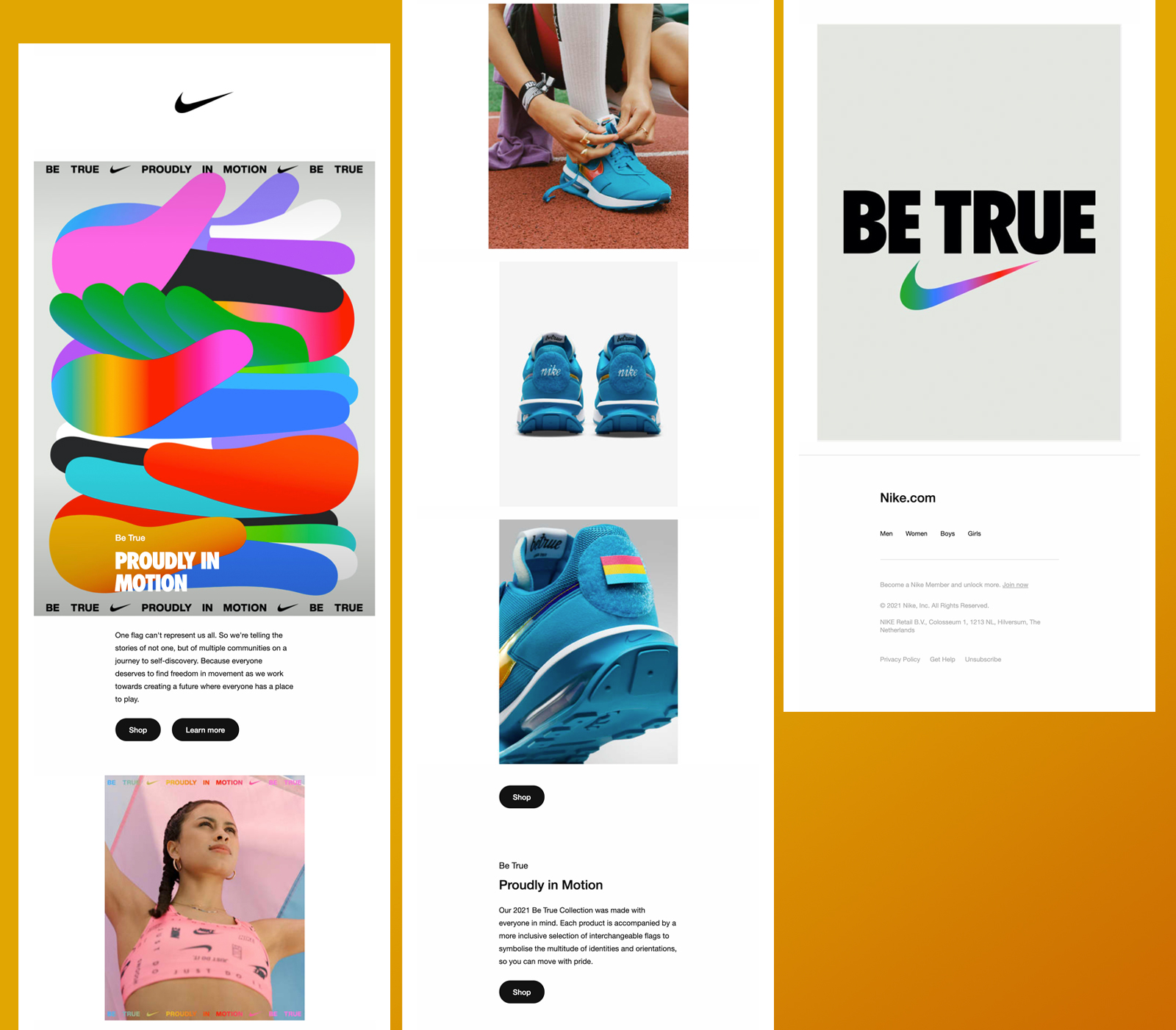 Nike Be True email