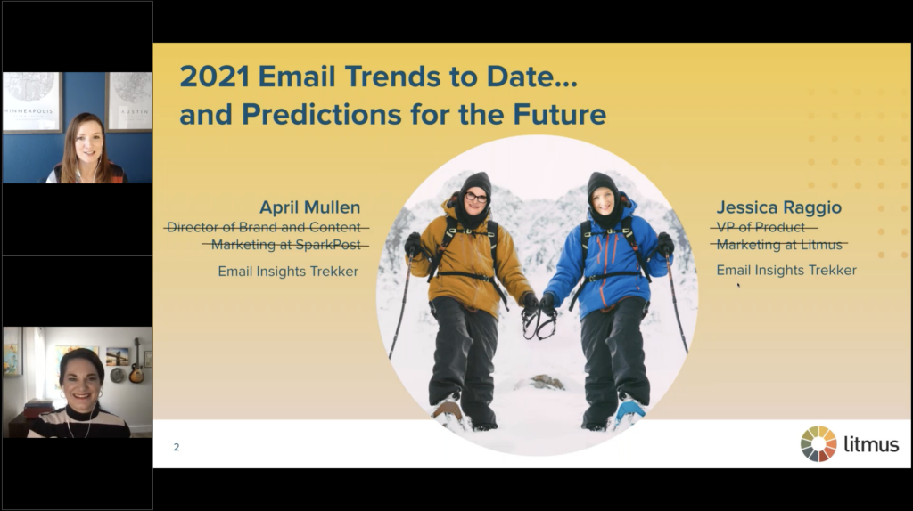 2021 Email Trends to Date and Predictions for the Future webinar with Jessica Raggio and April Mullen